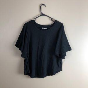 Madewell black basic blouse plus size xl